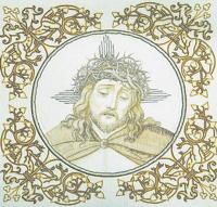 Palla des gepeinigten Heilands, Stickerei der Schwestern vom armen Kinde Jesus.